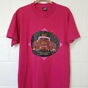 Vtg single-stitch 50/50 Large FREMONT CASINO Shirt